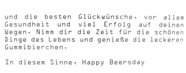 Gummi Bierchen Happy Beersday